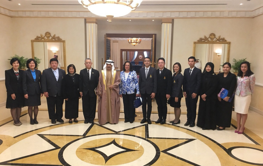 PSU Administrative Team was granted Royal Audience with His Royal Highness Prince Khalifa bin Salman Al Khalifa, Prime Minister of the Kingdom of Bahrain