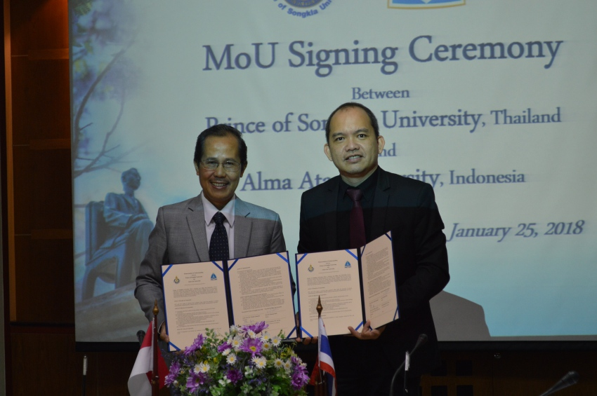 MoU Establishment between Prince of Songkla University and Alma Ata University, Indonesia