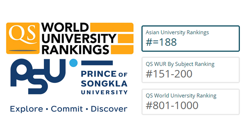 PSU RANKED AS TOP 5 QUALITY UNIVERSITY IN THAILAND BY QUACQUARELLI SYMONDS