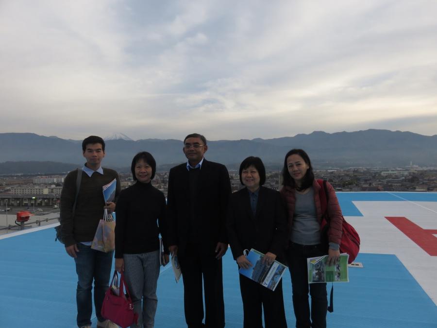 PSU Delegates visit the University of Yamanashi, Japan on