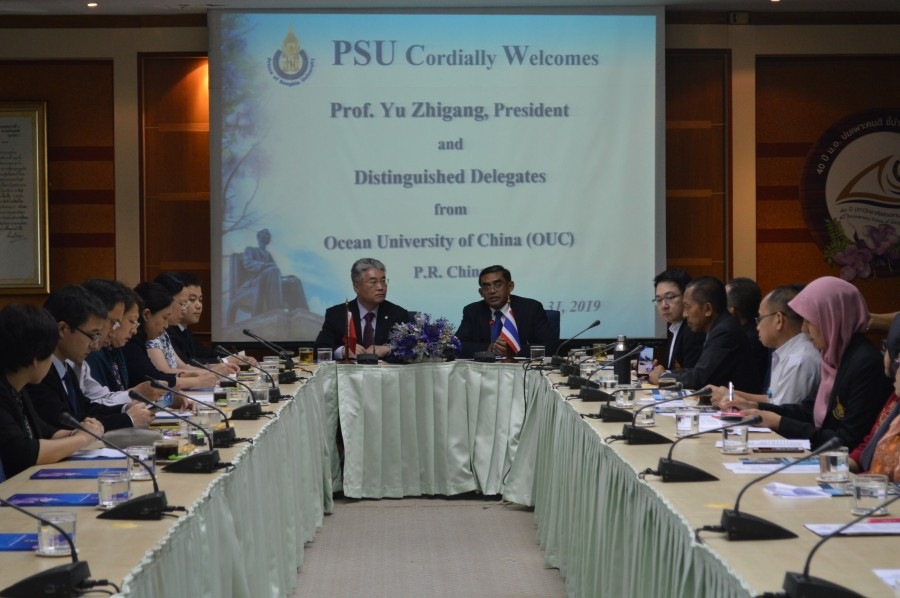 Chinese university signed MoU with PSU.