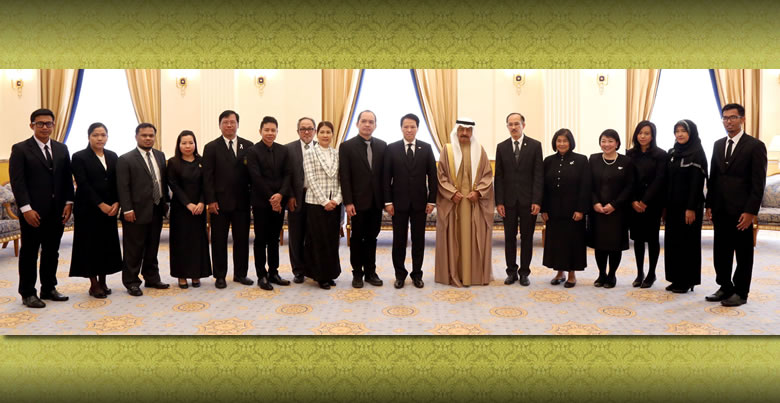 PSU President and team audience with HRH Prince Khalifa bin Salman Al Khalifa, Prime Minister of the Kingdom of Bahrain