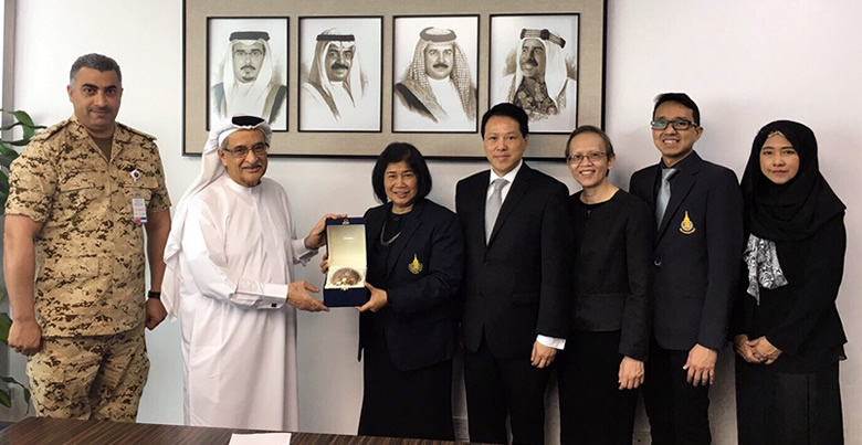 President of Bahrain Supreme Council of Health visited by PSU Delegation