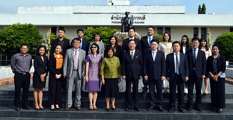 Qingdao University of Science and Technology, and Rubber Valley Group visit PSU