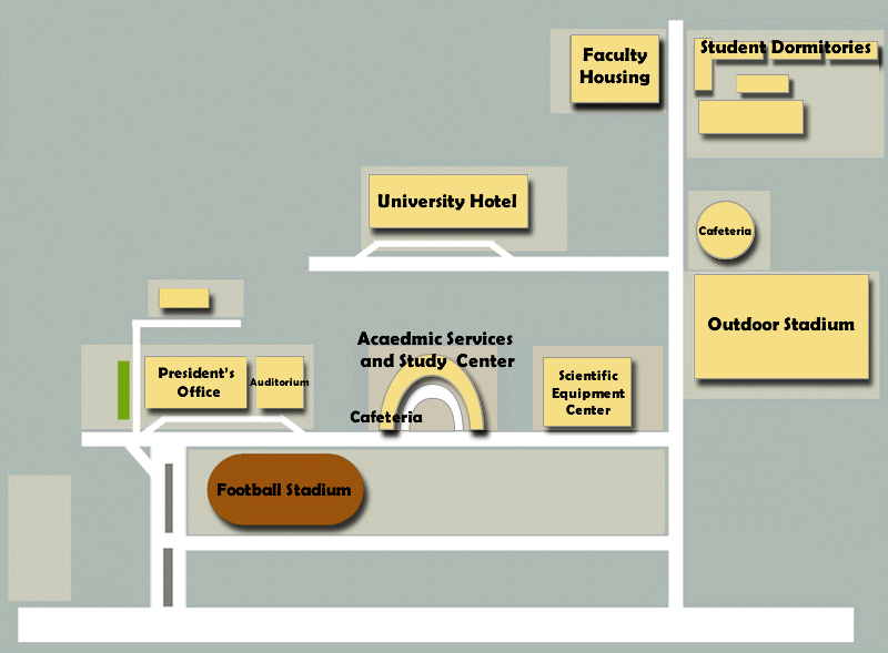 Map of Surat Thani Campus